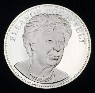 1976 Proof Sterling Silver Medal Eleanor Roosevelt