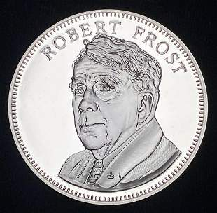 1976 Proof Sterling Silver Medal Robert Frost