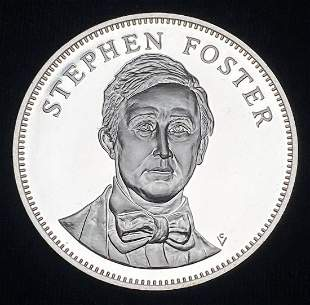1976 Proof Sterling Silver Medal Stephen Foster