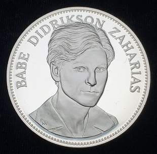 1976 Proof Sterling Silver Medal Babe D. Zaharias