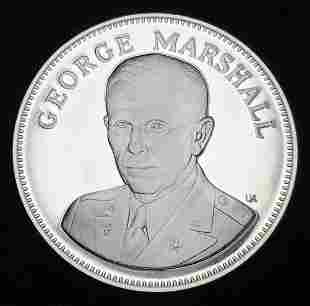1976 Proof Sterling Silver Medal George C. Marshall