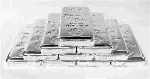 (10) Kilo .999 Proof Fleur De Lis Silver Bars