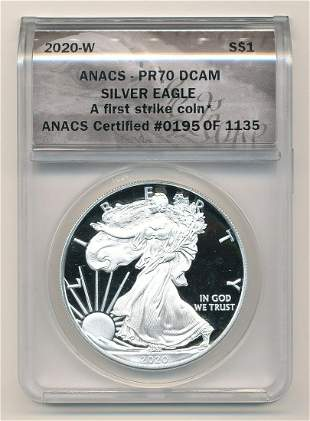 2020-W American Eagle ANACS PR70 DCAM First Strike