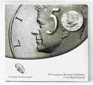 2014 US Mint 50th Anniv. Kennedy Half UNC 2-Coin Set