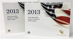 2013 US Mint Annual UNC Dollar 6-Coin Set