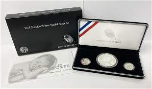 2015 US Mint March of Dimes Special Silver 3-Coin Set