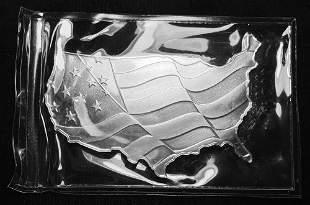 5 oz .999 Silver Elemetal US Map American Flag