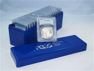 (20) Mixed Date & MM PCGS MS64 Morgan Silver Dollars