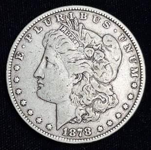 1878 8TF Morgan Silver Dollar VF