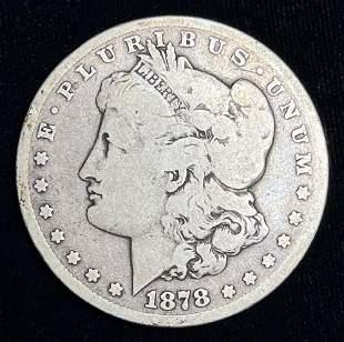 1878-CC Morgan Silver Dollar VG