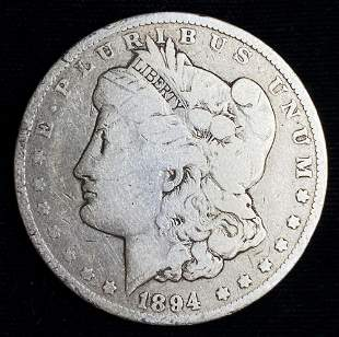 1894-O Morgan Silver Dollar VG