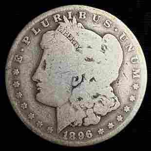 1896-O Morgan Silver Dollar VG