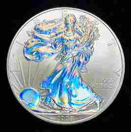 2008 American Silver Eagle Hologram