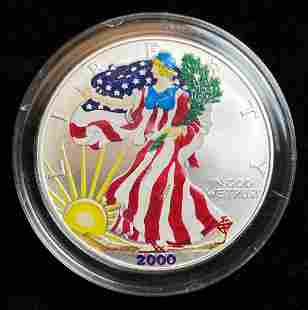 2000 Colorized American Silver Eagle Dollar