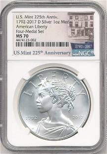 2017-D American Liberty 1 oz Silver Medal NGC MS70