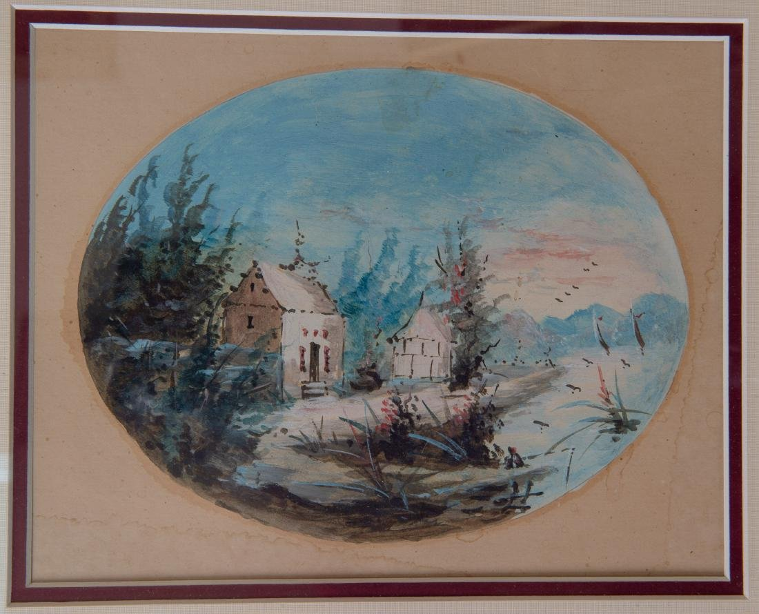 A Pair of China Trade Export Painting, Watercolor