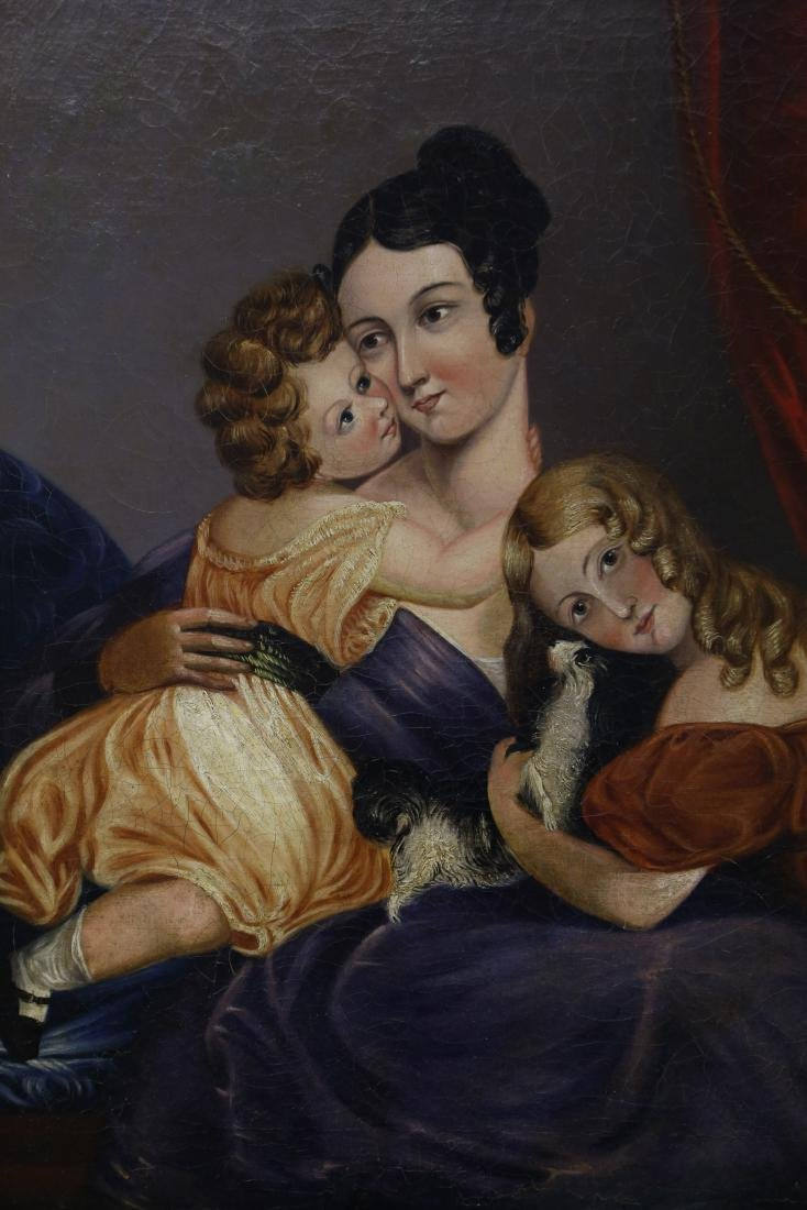 China Trade Export Oil Painting Mother and Daughters