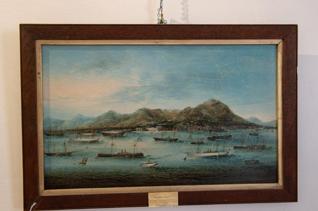 China Trade Export Oil Painting View of Pearl River