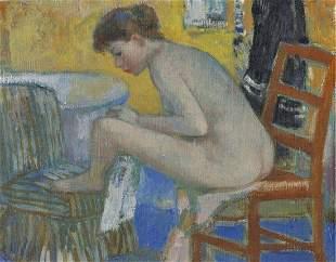 56Figure154  - Handpainted Art Painting - 48in X 38in