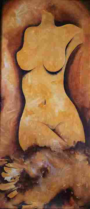 Diana  - Handpainted Art Painting - 16in X 36in