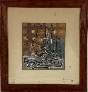 George Ratkai Night Time Boat Wash Watercolor