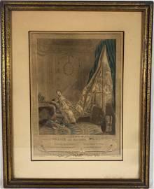 """Le Boudoir"" Original 1774 Maleuvre Freudeberg Antique"