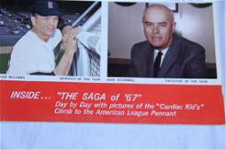 Set of 6 Boston Red Soxs official program and score