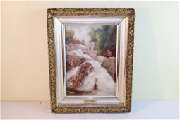 Painting of Jackson NH waterfalls by D.D. Coombs