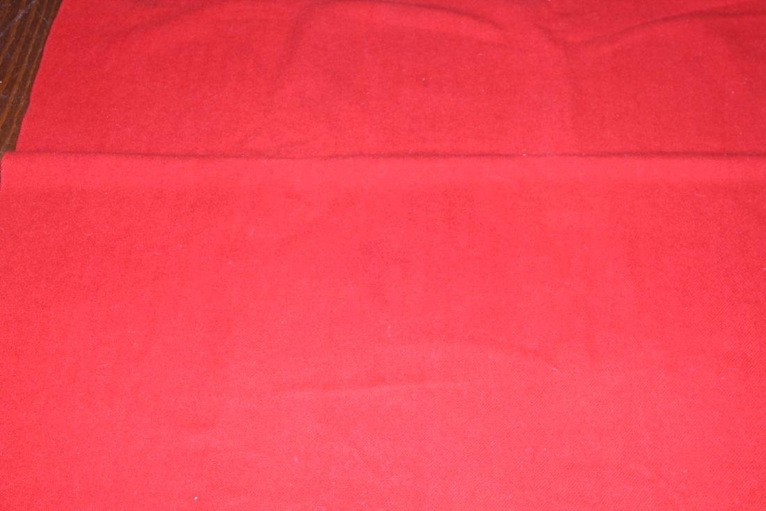 Full size Hudson Bay red and black wool blanket - 2