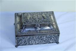 Beautiful silver box with cover