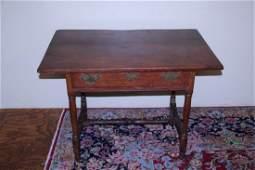 Period stretcher base tavern table