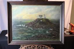 Large oil painting seascape scene