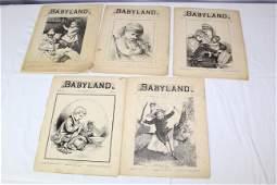 1879 Babyland Magazine Volumes