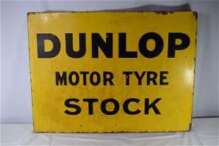 Vintage Double Sided Porcelain Dunlop Motor Tyre Stock