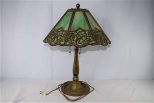 Victorian Bradley & Hubbard Leaded Glass Table Lamp