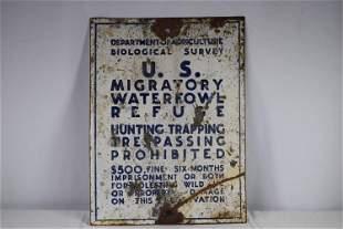 Vintage Porcelain Department Of Agriculture Sign