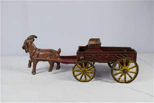 Vintage Cast Iron Animal Draw Express Wagon