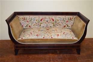 Antique Even Arm Mahogany Sofa