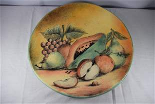 Mexican Terra Cotta Red Clay Paint Decorated 8 Inch