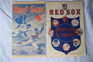 Vintage Red Sox AD Booklets