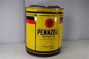 Vintage Pennzoil Motor Oil 5G Can