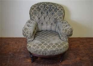 Antique Pillow Back Arm Chair