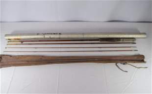 Vintage Bamboo 4pc Fishing Rod