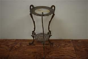 Ornate Victorian Era Brass and Marple Stand
