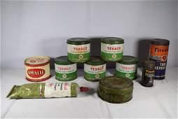 Lot of Vintage Texaco AD Oil Tins