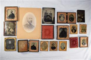 Vintage Lot of Tin Type Photographs