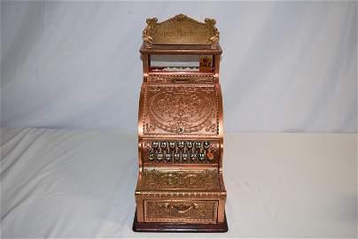 Vintage Ornate Brass National Cash Register