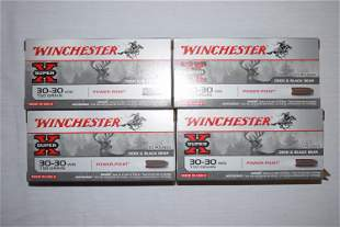 FOUR Boxes Winchester 30-30 Ammo