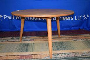 Mid Century Modern Round Occasional Table