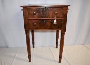 Period Two Drawer Federal Stand